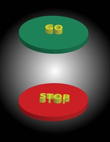 Stop And Go Buttons Royalty Free Stock Photography