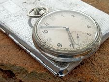 Free Watch On Cigarette Case Stock Photography - 486012