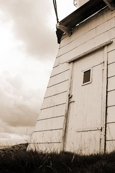 Free Door On Lighthouse In Sepia Stock Image - 488021