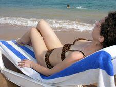 Free Girl On Beach Stock Image - 489271