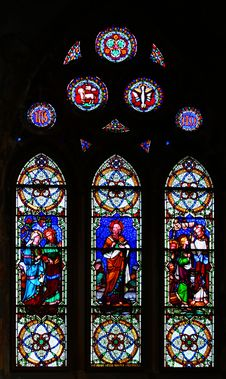 Free Religious Stained-glass Window Stock Images - 489624