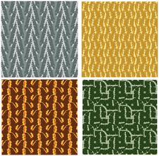 Free 4 Different Grunge Seamless Pattern Stock Photography - 4800192