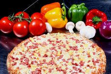 Free Pizza With Toppings Stock Photos - 4800473
