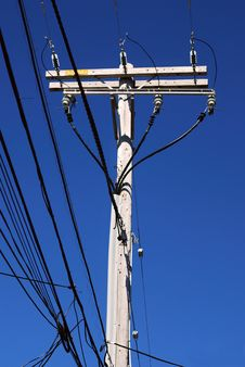 Electrical High Voltage Pole Royalty Free Stock Photo
