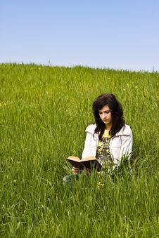 Free Young Woman Reading A Book Royalty Free Stock Photography - 4800687