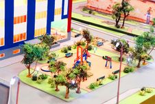 Model Of A Children S Playground Stock Photos