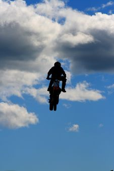 Free Stunt Biker Stock Photography - 4801412