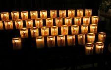 Free Candles In Church Royalty Free Stock Images - 4801839