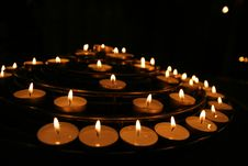 Free Candles In Church Royalty Free Stock Photos - 4801848