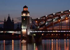 Free Bridge Across Neva River Royalty Free Stock Photography - 4801917