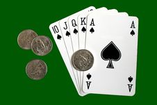 Free Royal Flush Poker Hand. Stock Photo - 4802390