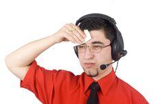 Free Customer Service Representative Man Royalty Free Stock Photo - 4802625