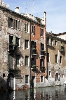 Free Venice, Italy - Water Front Facade Stock Photo - 4803120