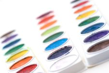 Free Child S Paint Trays Stock Photos - 4803713