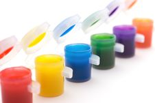 Free Child S Paint Pots Stock Images - 4803744