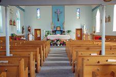 Free Catholic Church Sanctuary Royalty Free Stock Photography - 4804317