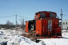 Free Abandonned Caboose Stock Images - 4804454