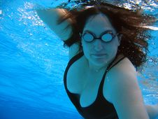 Free Fit Woman Swimming Stock Image - 4805161