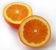 Free Two Slices Of Oranges Stock Images - 4805414