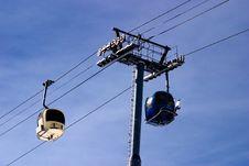 Free Ski Lift Cabins Royalty Free Stock Photography - 4805797