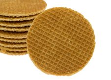 Free Isolated Stroopwafel Royalty Free Stock Photos - 4805848