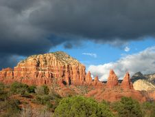 Free Sedona Red Rock Storm 64 Stock Images - 4805934