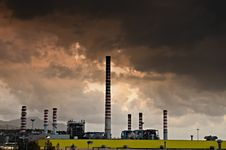 Factory Pollution Stock Photos