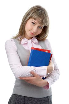 Free Woman With Folder For Documents Royalty Free Stock Photography - 4806527