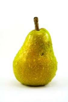 Pear With Drops Royalty Free Stock Photography