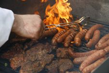 Sausage Barbecue Royalty Free Stock Photo