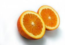 Free Two Slices Of Oranges Royalty Free Stock Photos - 4807518