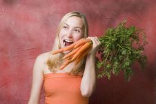 Free Female With Carrots Royalty Free Stock Images - 4808309