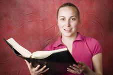 Free Female Reading Book Stock Photo - 4808500