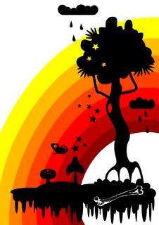 Free Fabulous Tree Vector Royalty Free Stock Photos - 4808658