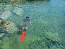 Free Snorkeling Man Royalty Free Stock Image - 4808846