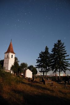 Free Night Churchyard Stock Photo - 4808950