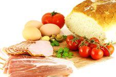 Free Raw Fresh Ingredients For Making Breakfast Stock Image - 4809011