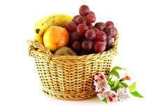 Free Various Of Fruits In A Basket Stock Image - 4809051