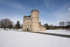 Free Castle Fraser In The Snow Royalty Free Stock Photo - 4809165