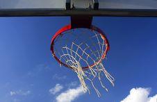 Basket Viewed From Below Stock Photo