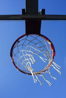 Basket Viewed From Below Royalty Free Stock Image