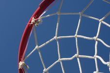Basket Viewed From Below Stock Photography