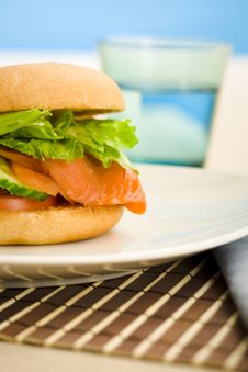 Free Breakfast Salmon Bagel Stock Photo - 4809830