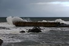 Free Stormy Pier Stock Photos - 48090973