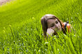 Free Young Woman Slept On The Grass Royalty Free Stock Photo - 4812515