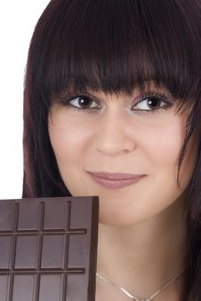 Free Woman With A Chocolate Royalty Free Stock Image - 4811326