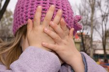 Free Girl With Her Eyes Shut Royalty Free Stock Photos - 4811368
