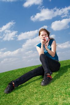 Free The Girl With The Camera Stock Photo - 4811530