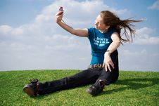 Free The Girl With The Camera Stock Image - 4811561