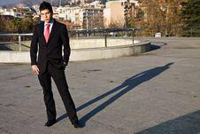 Standing Businessman Stock Image
